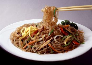 South Korea Food Japchae