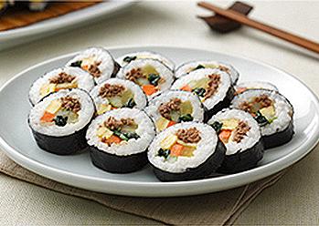 South Korea Food Gimbap