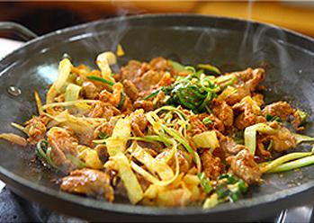 South Korea Food Jeyuk bokkeum